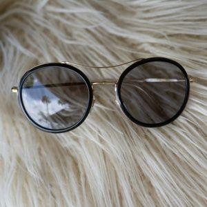 Authentic Gucci Round Wire Frame Sunglasses